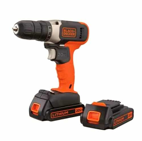 black decker 20v max driver with 2 batteries cordless drill 500x500 1