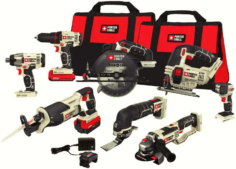 porter cable cordless tool set